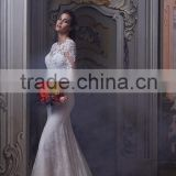 (MY0926) MARRY YOU Alibaba Long Sleeve Backless Vintage Mermaid Lace Wedding Dresses 2015