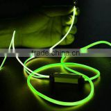 Innovative product stereo sound led earphone EL glowing headphone with mic                                                                         Quality Choice