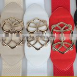 Korea style fashion ladies and women retro slim alloy buckle elastic cloth wide waist belt