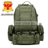 New Combined 50L Army Green Trekking Bag Military Camping Back Pack, Como Hiking Backpack, Sport Bags