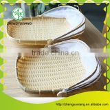 With dust cover bamboo foods storage tray