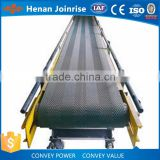 China mobile lime sawdust sand pvc green belt conveyor for sale