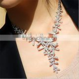 Fashion Jewelry Retro Crystal Chunky Statement Bib Snowflake Pendant Chain Choker Necklace