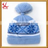 New Year Product Fancy Acrylic Children Knit Hats Knitted Crochet Baby Hat