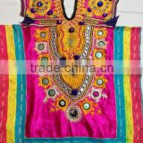 Huge collection Beautiful embroidery Indian Banjara girl dress yoke mirror work tribal nomad dress