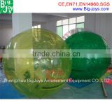 High quality 1.0mm TPU inflatable floating water ball, ball shaped water bottle for sale