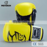 New Hot 8 - 16 OZ UFC Fitness Pretorian Grant Luva Boxe Gym Training Boxing Gloves In Yellow PU Leather Muay Thai MMA Mitts