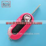 Best price 3 button shell key Fiat 500 key remote key cover Deep blue SIP22 blade for fiat 500 cover