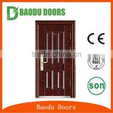 Baodu China golden supplier security apartment building entry steel doors for sale