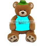embroidery imprinted promotional logo green hat Jumbo Bear dress scarf beanbag bandana t-shirt bib tie ribbon animal toys