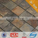 HF JY-S-14 wholesale 48x48 high quality square rusty slate stone mosaic tile natural stone mosaic foshan China stone tile