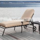 cast aluminum furniture of outdoor metal sun lounger chaise lounger with coffee table