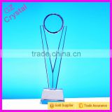 2015 Basketball Glass Crystal Trophy Wholesale