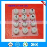 custom transparent silicone rubber keypad buttons with conductive carbon pills remote control electronic silicon rubber buttons