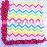 2016 Professional Manufacture China Supplier Flannel Blanket With Stain Ruffle , Quality Blanket For Bbay Girl
