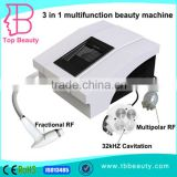 2016 Hot Sale 3in 1 Cavitation Slimming Weight Loss Machine With Fractional Rf Multipolar Rf Massage Ultrasonic Liposuction Equipment