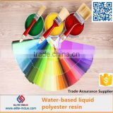 water soluble raw material polyester resin