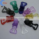 Colorful baby Pacifier badge T plastic Clip