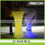 led portable bar furniture / luminous counter table with bar chair / bar stool