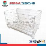 Metal mesh container wire collapsible box cage pallet