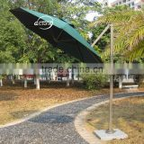 Home garden round small roma umbrella /360 degrees rotation patio sun umbrella/roma style sun parasol sale