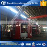 CLW heavy duty 12000 liters water tank high aerial spray fire truck with electric remote control boom fire gun