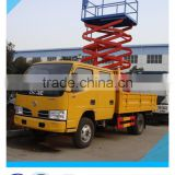 factory dongfeng Euro3 95HP double cabin 12m aerial work platform price