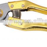 8.5 inch gold nimitation plating hand tool pruner scissors pruning shears trees/garden tools