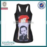 alibaba oem factory sbulimation printing women vest custom gym stringer vest tank top women