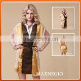 High end clothing loose kaftan silk chiffon dress patterns