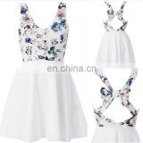 casual sleeveless dress special back design with bow instagram hot selling styles uk clothing
