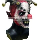 Creepy Halloween Masquerade Costume Theater Prop Grin Latex Clown Mask Adult Full Head Adult Size For Party