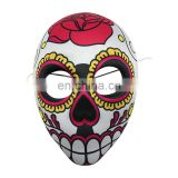 White EVA Mask Covered with Fabric with Giant Flower Decoration for Halloween, Carnival and Party