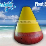 cone Yellow and red inflatable floating buoy for water park