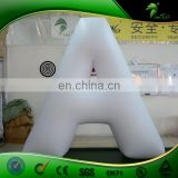 "Hongyi Custom White Inflatable Characters ""A"" And ""Latin Capital Letter A/ A Letter Replica Helium Balloon for Promotion"