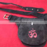 Leather om Design Waist Hip Belt Bag with Pockets pouch Utility Backpack funky hip hope fanny pack belt traveling bum party wear