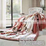Polyester cheap stock south korean blanket fleece blanket