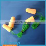 Promotional eco-friendly PU earplugs with rope China wholesale