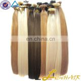 Direct Factory Wholesale Price Double Drawn Remy Italian U Tipped Keratin Bond Hair Extension