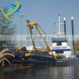 China hot sale diesel cutter suction dredger with pump