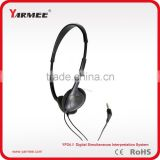 Professional translation headset for simultaneous translation equipment, digital wireless interpretation system