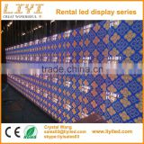 high resolution super slim P3.91 tv video wall indoor advertising led screen panel price for rental