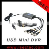 4CH Full D1 H.264 Mini Usb Dvr IC-UDC4001