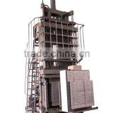 Vertical expanding machine for refrigerant recovery