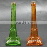 Eiffel Tower Glass Vase ,Flower glass vase,Colorful glass vase,Colored glass eiffel tower centerpieces