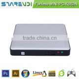sharevdi smart desktop pc K662N ubuntu os quad core processor fanless motherboard support USB printer/USB printer