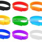 2014 USB Silicone Wristband with free logo printing                                                                         Quality Choice