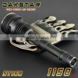 DAKSTAR NEW ST16B CREE XM-L U2 1150LM 18650 Side Switch High Beam Stepless Dimming Tactical Police High Power LED Flashlight