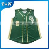 Factory price sublmation custom baseball jersey pattern