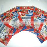colorful best selling zipper aluminum foil for packaging card and chewing gum
